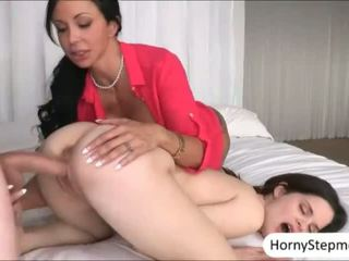 Jewels Jade and Jenna Ross sharing cock and pounded on turn