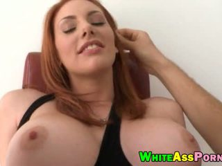 oral, redhead, big tits