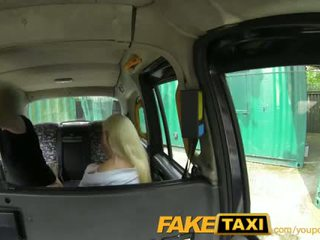 Faketaxi posh blond gets en creampie