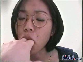 Nerdy Asian wants cock in POV