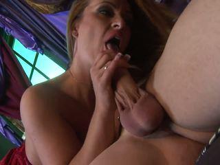 Aline Enjoys the Massive Rod Sliding Down Her Vulva in