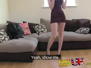 FakeAgentUK Sexy Italian babe shows unbelievable deep throat skills