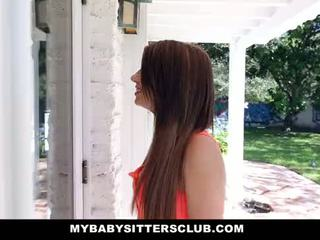 Mybabysittersclub - صغيرتي طفل sitter مارس الجنس في جديد years