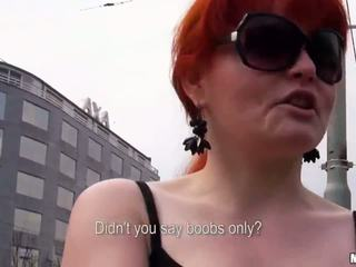 Redhead Eurobabe Florence anal for money