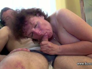 Mama prins neamt baiat și obține inpulit în toate holes