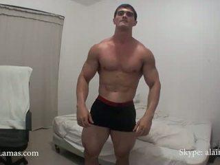 Muscle jock chlpaté zadok n výstrek