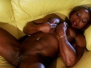 Čierne muscle female masturbate video