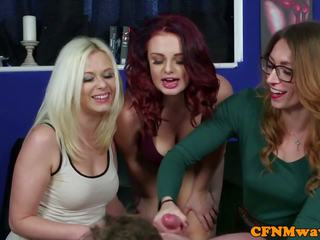 British CFNM Babes Give Lucky Dude Wankjob: Free HD Porn 26
