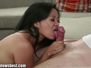 Sweaty cock sucking mom