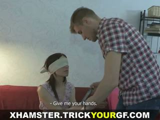 Trick Your GF - Punished with raw ass fuck