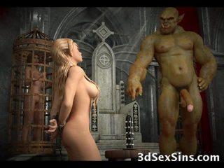3D Evil Creatures Fuck Elf Girls!