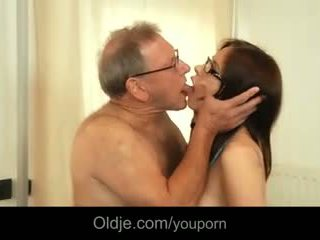 65 old senior fucks young medical in the cabinet