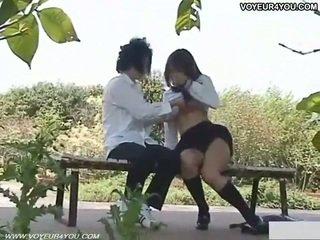 Marota aluna ao ar livre sexo filmed