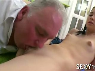 brunette, blowjob, old+young