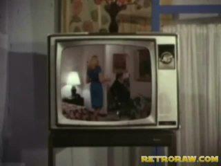 Ρετρό τηλεόραση σόου trio