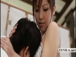 Prsnaté japonské sultress harumi asano has kozy suckled