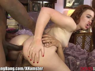 Devilsgangbangs Jodi Taylor Glazed by 3 Black Dicks.