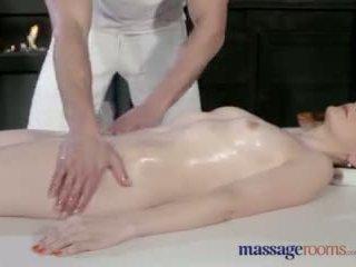 Massage rooms hübsch blass skinned mutter squirts für die sehr erste zeit