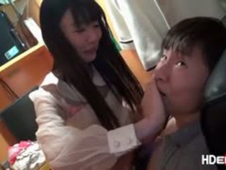 Jepang rambut coklat tsubomi gets kacau