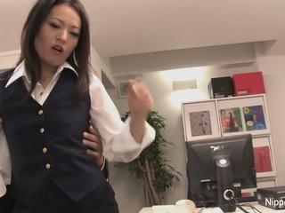 Sekretaris plays dengan dia kontol dengan dia mulut dan kaki