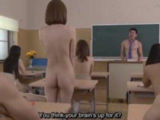 Subtitled uncensored יפני נודיסטי בית ספר פופ quiz