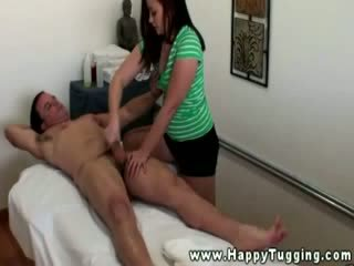 Asian masseuse paid to suck shaft for this lucky client