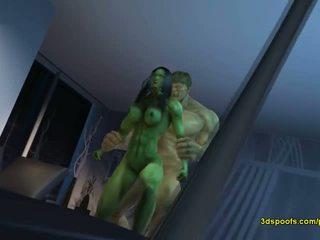 Ona hulk on - obstaja je nič kot noro jezen seks!