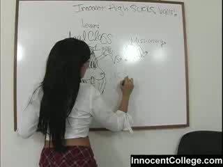 Секси lezbo училище момичета преподавам всеки друг а lesson