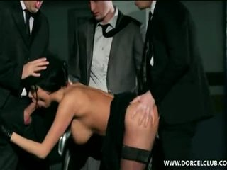 Anissa Kate In Black Stockings With Guys After Funeral