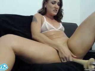 brunette, orgasme, sexleketøy