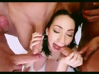 cum in mouth, facials, gangbang
