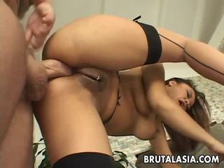 Annie Cruz has her ass stretched with toys