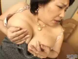 japoński, masturbacji, dojrzały, mamusia