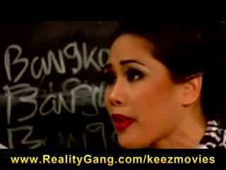 Jessica Bangkok - Slutty Big-tit Asian school teacher fucks student's dick in class