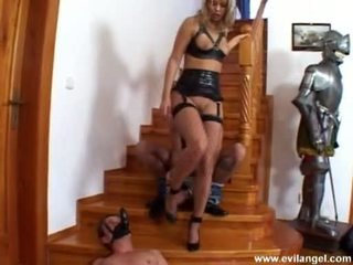 Tractable Ellen Saint Takes One Ramrod At A Time In And Out Her Filthy Mouth