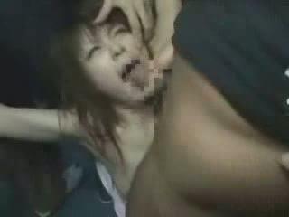 japán, lány, groped, brutally