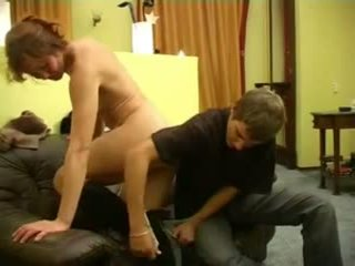 Hot Redhead Russian Mom and Boy