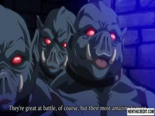 Hentai lány szar által monsters