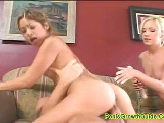 Two hot girls seduce horny boy