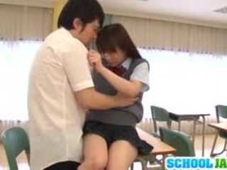 Schoolgirl Yuri Shinomiya Sucks And Fucks While In Class