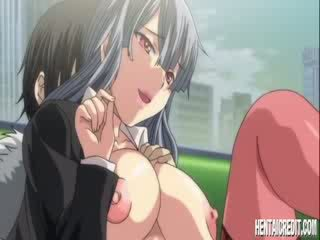 Hentai girl with nipple clamps gets fucked