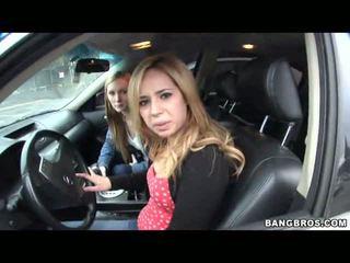 2 Females Driving Around And Seducing