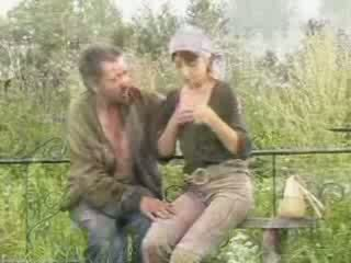 Horny widow with homeless guy and his dong