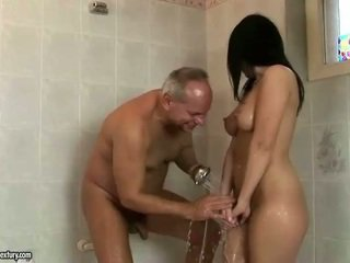Lucky grandpa fucks his young girlfriend