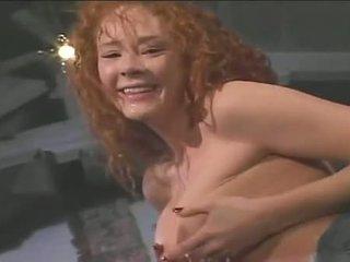 Redheaded Floozy Audrey Hollander Gags On Meaty Dick Pushing Down Throat
