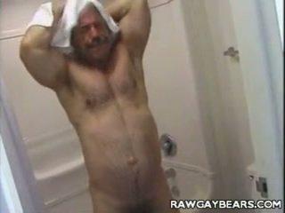 Daddydy Bear Bathroom Jerking Off