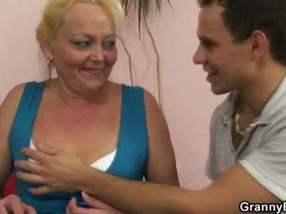 Granny Bet: Blonde granny gets her pussy slammed