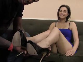 foot fetish, interracial, sexy legs