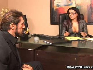 velký brýle hq, velká prsa, vy kancelář jmenovitý