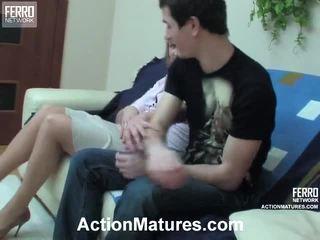 Emilia And Vitas Attractive Mum Inside Performance